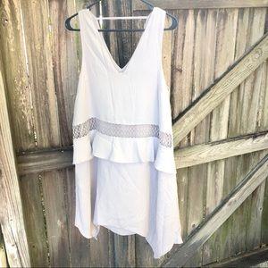 Shilla v-neck lilac/grey dress size Small